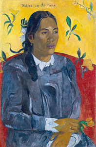 Art Prints of Tahitian Woman with a Flower by Paul Gauguin