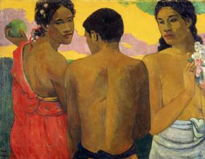 Art Prints of Three Tahitians by Paul Gauguin