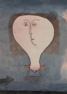 Art Prints of Fright of a Girl by Paul Klee
