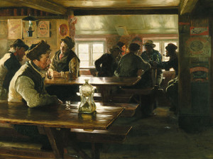 Art Prints of In Merchant Winther's Tavern, Skagen by Peder Severin Kroyer