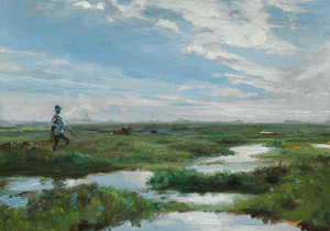 Art Prints of Skagen Heath Near brovandene by Peder Severin Kroyer