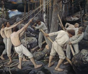Art Prints of Pioneers in Karelia by Pekka Halonen