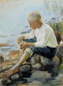 Art Prints of Boy on the Shore by Pekka Halonen