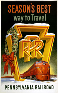 Art Prints of Season's Best Way to Travel, Pennsylvania Railroad