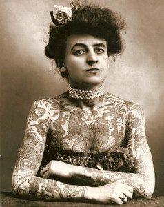 Art Prints of Maud Wagner, First Known Female U.S. Tattooist