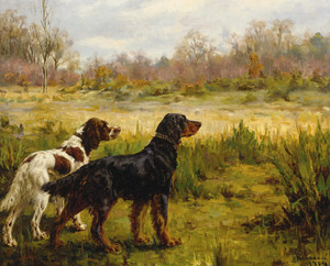 Art Prints of Two Setters II by Percival Leonard Rosseau
