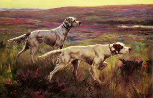 Art Prints of Setters in the Highlands by Percival Leonard Rosseau