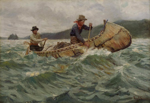 Art Prints of Trappers in a Canoe by Philip Goodwin