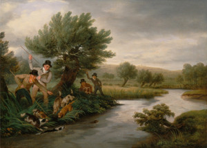 Art Prints of Spearing the Otter by Philip Reinagle