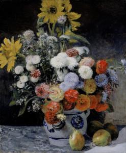Art Prints of Mixed Flowers in an Earthenware Pot by Pierre-Auguste Renoir