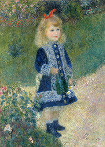Art Prints of Girl with a Watering Can by Pierre-Auguste Renoir
