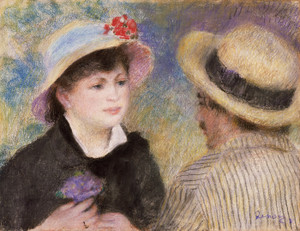 Art Prints of Boating Couple by Pierre-Auguste Renoir