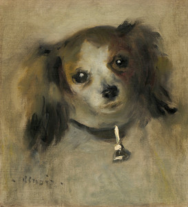 Art Prints of Head of a Dog by Pierre-Auguste Renoir