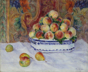 Art Prints of Still Life with Peaches by Pierre-Auguste Renoir