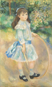 Art Prints of Girl with a Hoop by Pierre-Auguste Renoir