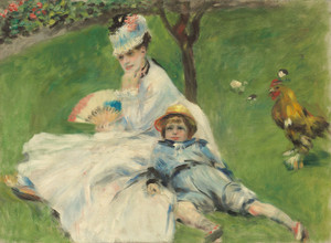 Art Prints of Madame Monet and Her Son by Pierre-Auguste Renoir
