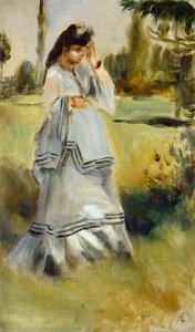 Art Prints of Woman in a Park by Pierre-Auguste Renoir