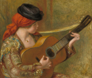 Art Prints of Young Spanish Woman with a Guitar by Pierre-Auguste Renoir