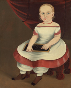 Art Prints of Little Girl with Slate by Prior Hamblin School
