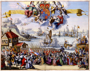 Art Prints of Reception of Her Royal Highness (4105) by R. Hooghe