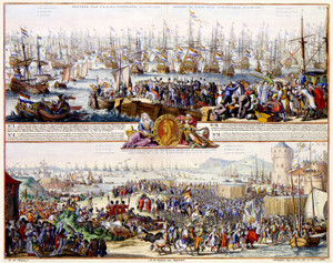 Art Prints of Departure of William III from Brielle (426) by R. Hooghe