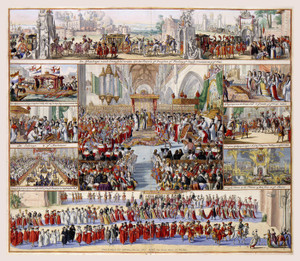 Art Prints of Coronation of William III, 1689 (3103) by R. Hooghe