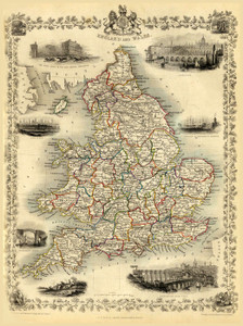 Art Prints of England and Wales, 1851 (0466008) by R.M. Martin and F. Tallis