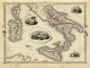 Art Prints of Southern Italy, 1851 (0466023) by R.M. Martin and J. and F. Tallis