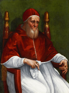 Art Prints of Portrait of Pope Julius II by Raphael Santi