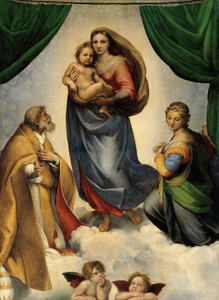 Art Prints of The Sistine Madonna by Raphael Santi