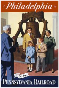 Art Prints of Philadelphia, Go, Pennsylvania Railroad, Retro Travel Poster