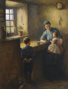 Art Prints of Breakfast Time by Robert Gemmell Hutchison