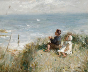 Art Prints of Flying the Kite by Robert Gemmell Hutchison