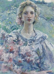 Art Prints of Girl with Flowers by Robert Reid