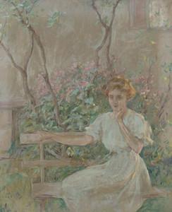 Art Prints of The Garden Seat by Robert Reid