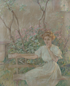 Art Prints of The Garden Seat by Robert Reid