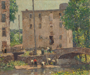 Art Prints of Repairing the Bridge by Robert Spencer