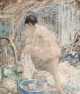 Art Prints of Woman at the Bath by Robert Spencer