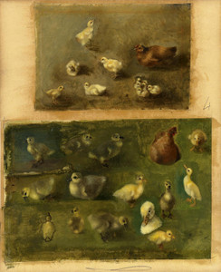 Art Prints of Hens, Chicks and Ducklings by Rosa Bonheur