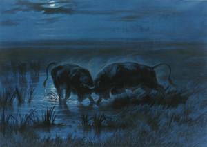 Art Prints of Moonlight Battle by Rosa Bonheur