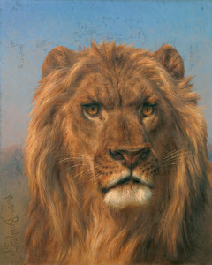 Art Prints of Portrait of a Lion by Rosa Bonheur