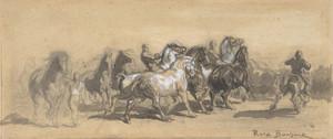 Art Prints of Study for the Horsefair by Rosa Bonheur