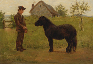 Art Prints of Training the Pony by Rosa Bonheur