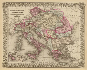 Art Prints of Austrian Empire, 1880 (0586063) by Samuel Augustus Mitchell