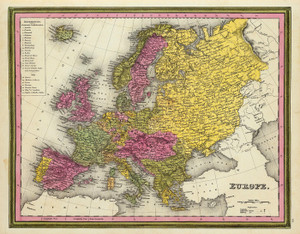 Art Prints of Europe, 1846 (0537044) by Samuel Augustus Mitchell