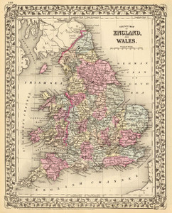 Art Prints of England and Wales, 1880 (0586058) by Samuel Augustus Mitchell