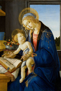 Art Prints of The Madonna of the Book, Virgin and Child by Sandro Botticelli