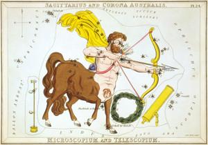 Art Prints of Sagittarius and Corona Australis by Sidney Hall