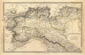 Art Prints of Ancient Italy I, 1832 (0890037), Great Britain Map