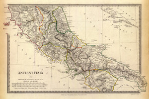 Art Prints of Ancient Italy II, 1830 (0890039), Great Britain Map
